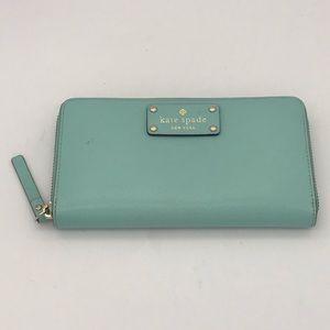 """Kate Spade Mint Seafoam Wallet 8x4"""""""
